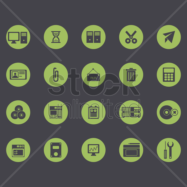 computer icon set vector graphic