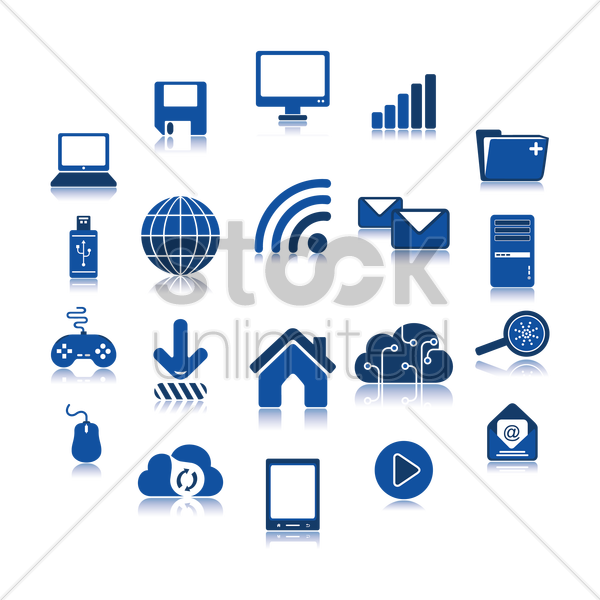 computer icons set vector graphic