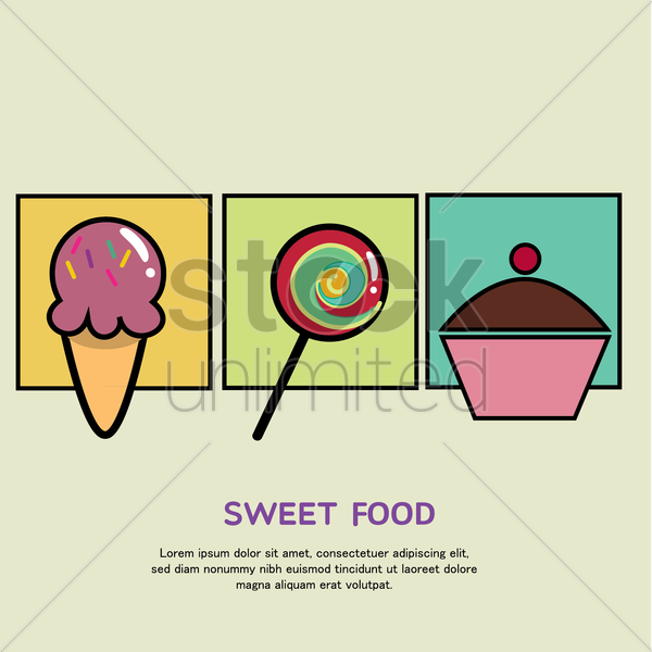 Free confectionery vector graphic
