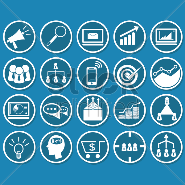 conference icons vector graphic