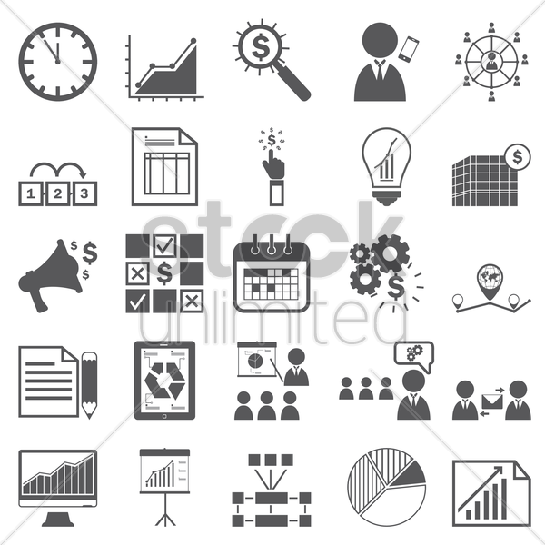 conference set vector graphic