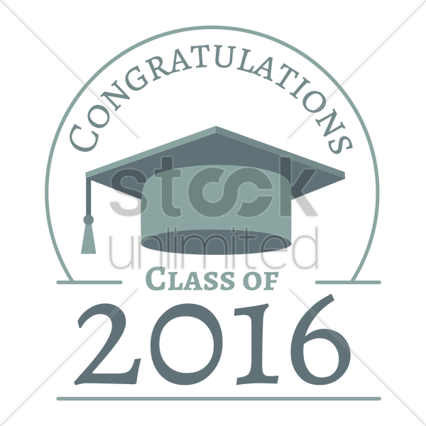 congratulations class of 2016 vector graphic