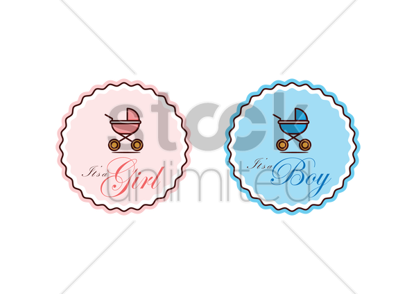 congratulations for the new born baby cards vector graphic