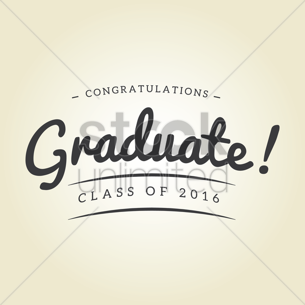 congratulations graduate class of 2016 design vector graphic