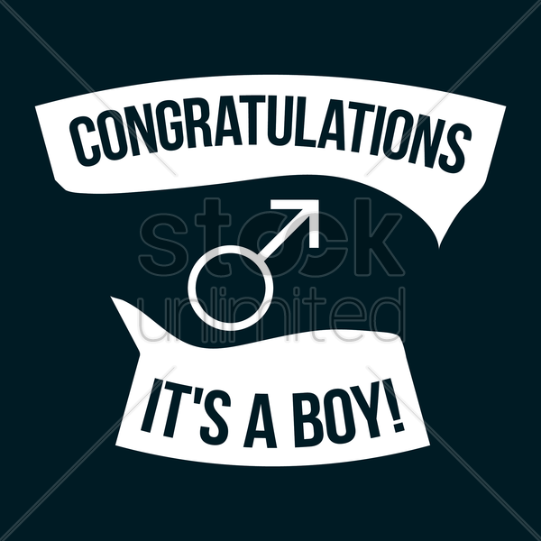 congratulations its a boy vector graphic