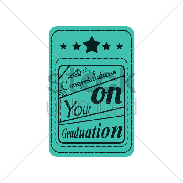 congratulations on your graduation vector graphic