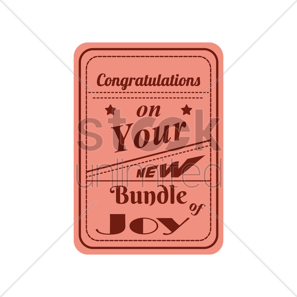 congratulations on your new bundle of joy vector graphic