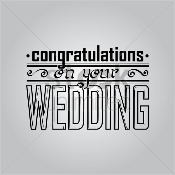 congratulations on your wedding vector graphic