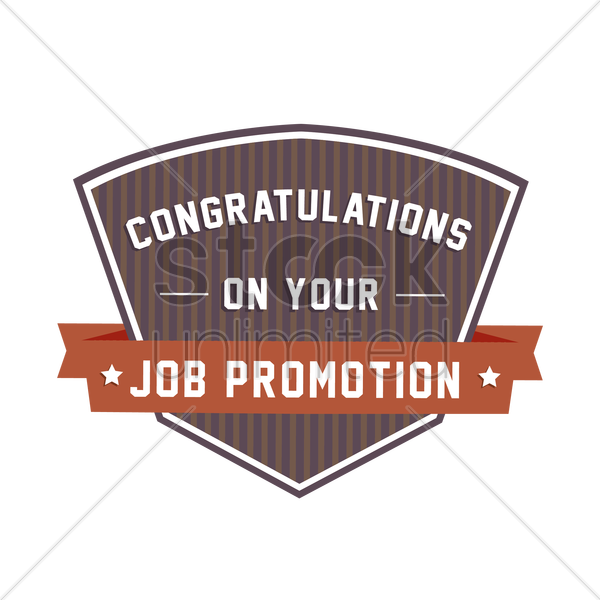 Congratulatory Message On Job Promotion Vector Image - 1924006