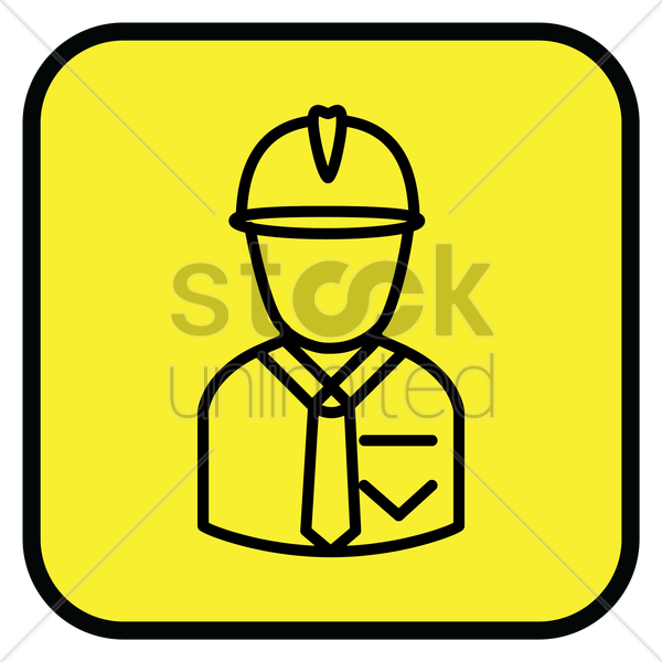 construction engineer icon vector graphic