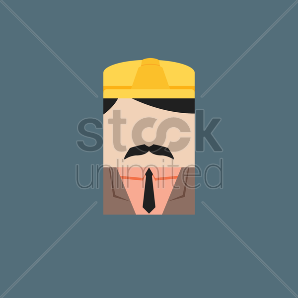construction engineer vector graphic
