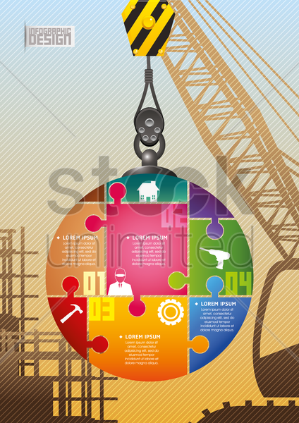construction infographic vector graphic