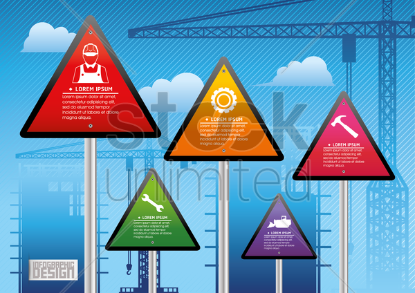 construction infographics vector graphic