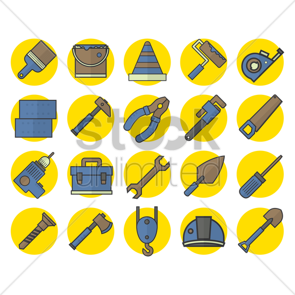 construction tool collection vector graphic
