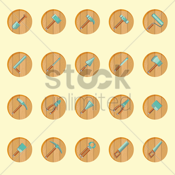 construction tools vector graphic