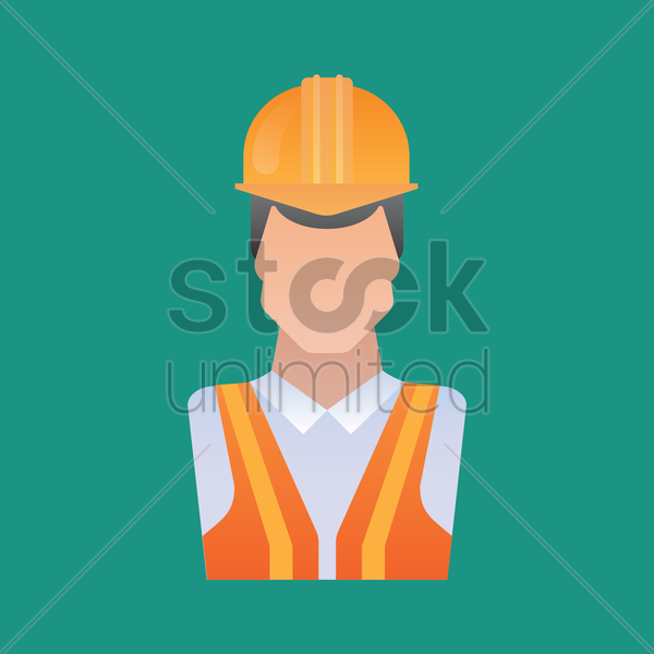 construction worker vector graphic