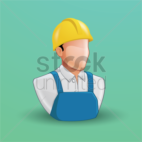 Free construction worker vector graphic