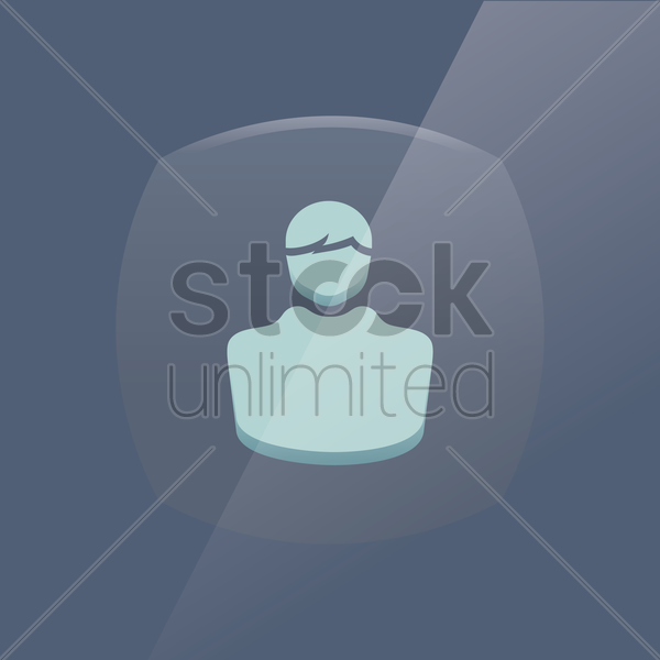 contact icon vector graphic