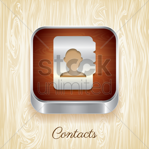 contacts button vector graphic