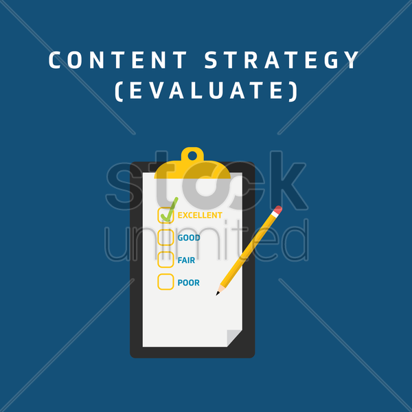 Free content strategy - evaluate vector graphic