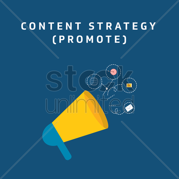 Free content strategy - promote vector graphic