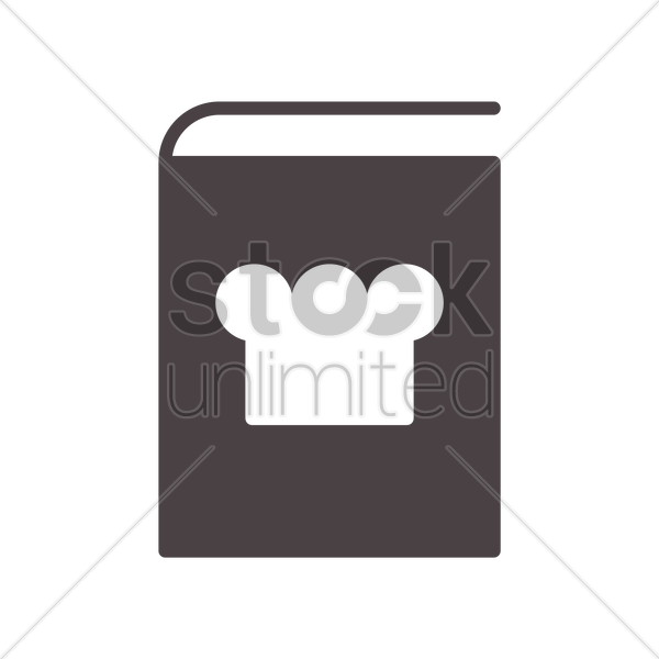 cooking book icon vector graphic