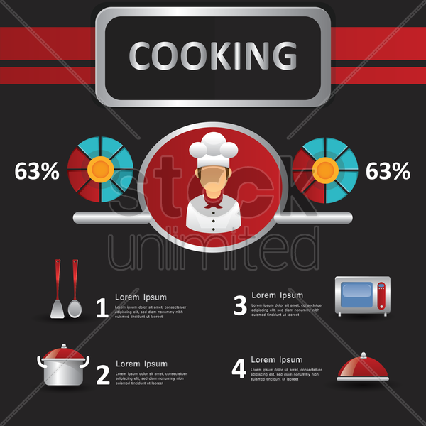 cooking infographic vector graphic