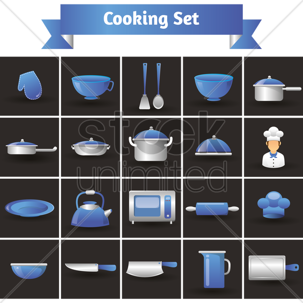 cooking set vector graphic