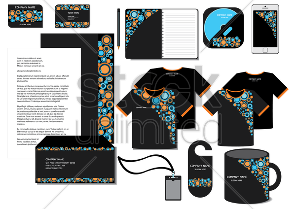 corporate identity designs vector graphic