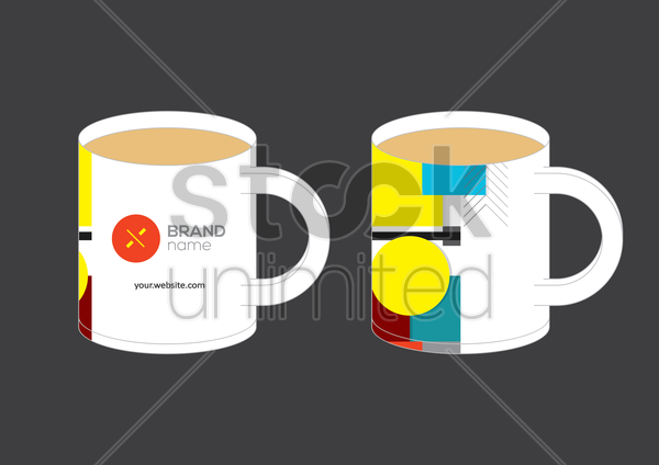 corporate identity element vector graphic