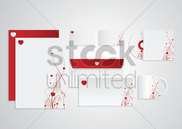 corporate identity elements vector graphic