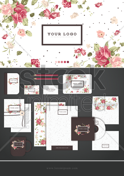 corporate identity wallpaper vector graphic
