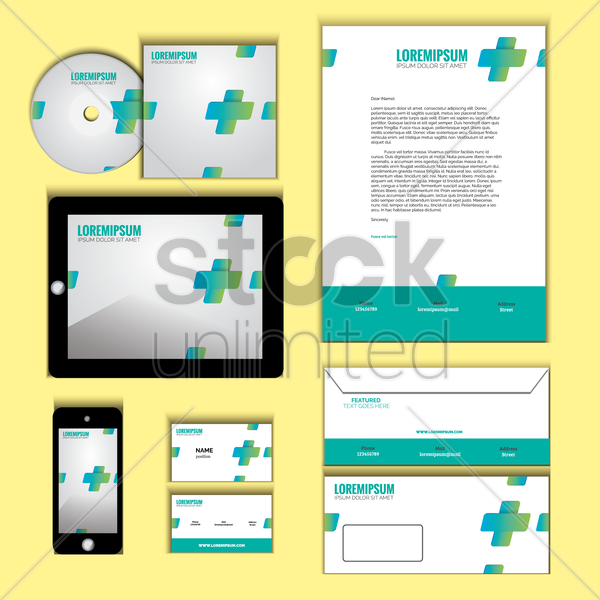 corporate identity vector graphic