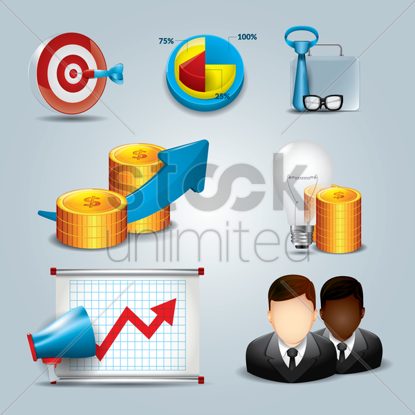corporate theme vector graphic