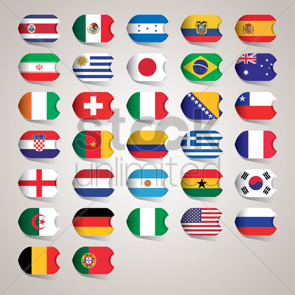 country flags vector graphic