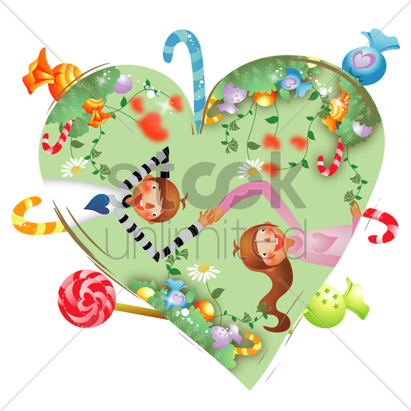 couple lying in the garden vector graphic