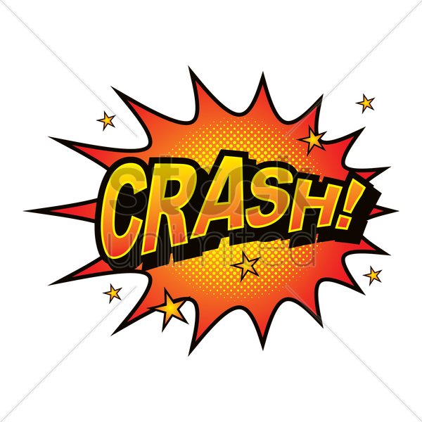 crash comic speech bubble vector graphic