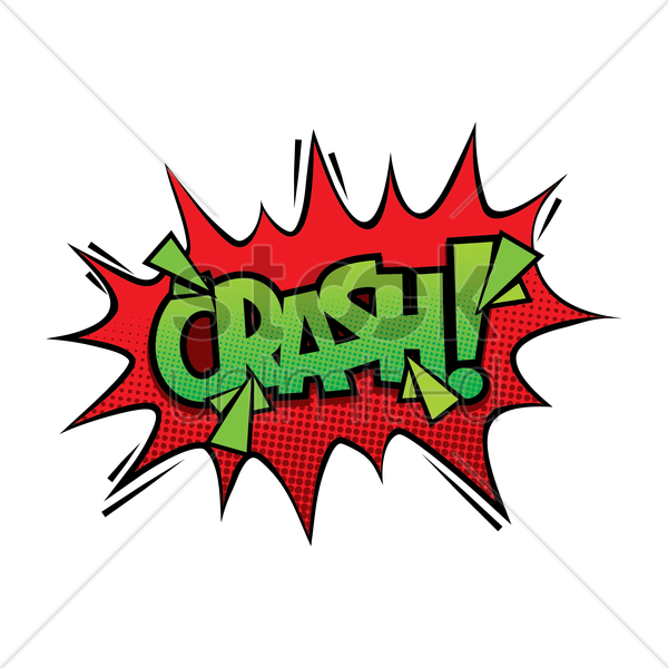 crash comic speech vector graphic