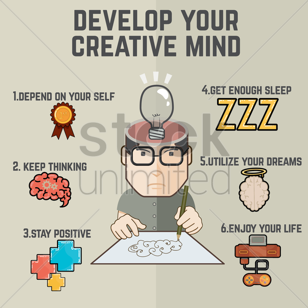 Free creative mind infographic vector graphic