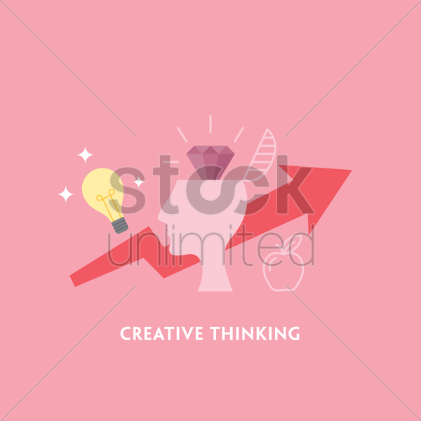 creative thinking vector graphic