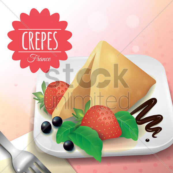 crepes vector graphic