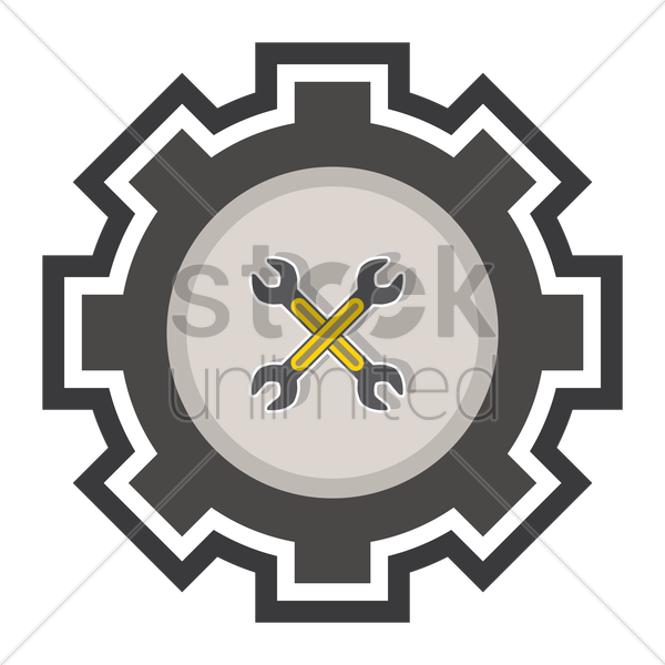 crossed wrenches vector graphic