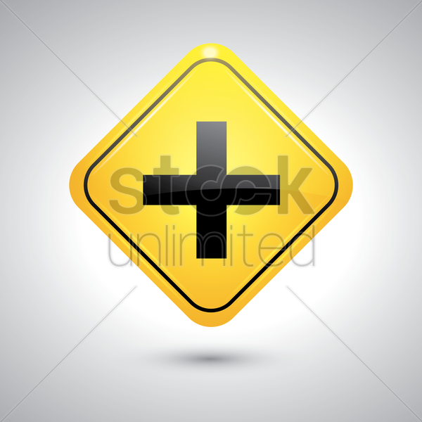 crossroad sign vector graphic