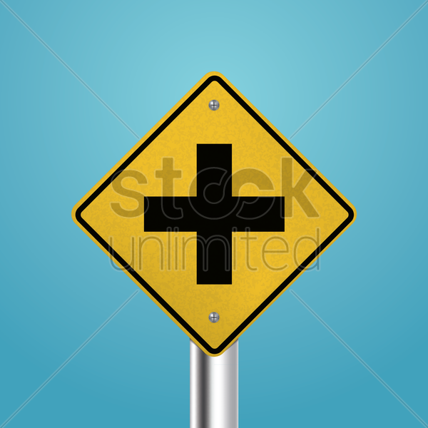 crossroad signboard vector graphic