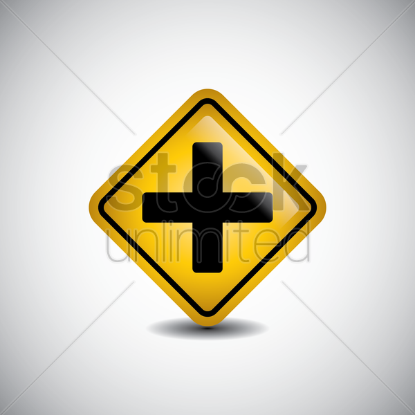 crossroads sign vector graphic