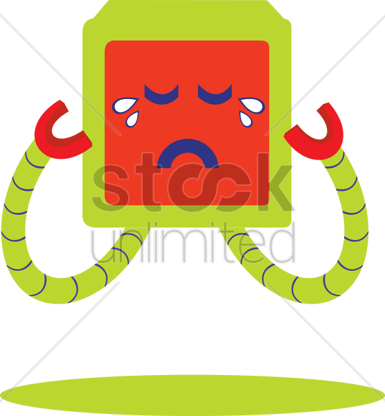 Free crying robot vector graphic