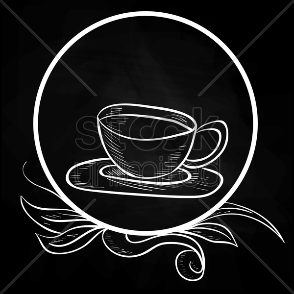 cup of hot beverage vector graphic