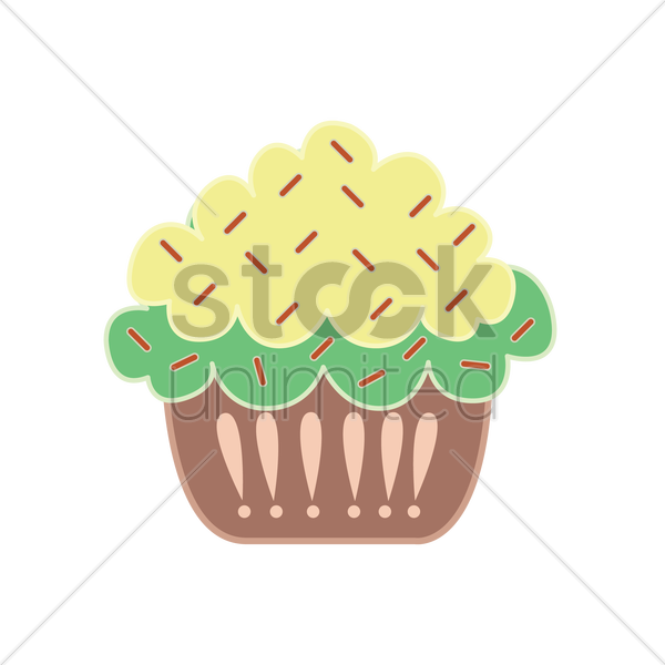 Free cupcake isolated over white background vector graphic