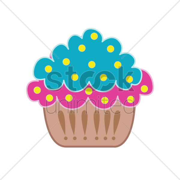 cupcake isolated over white background vector graphic