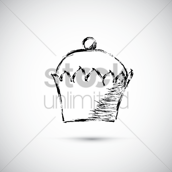 cupcake vector graphic